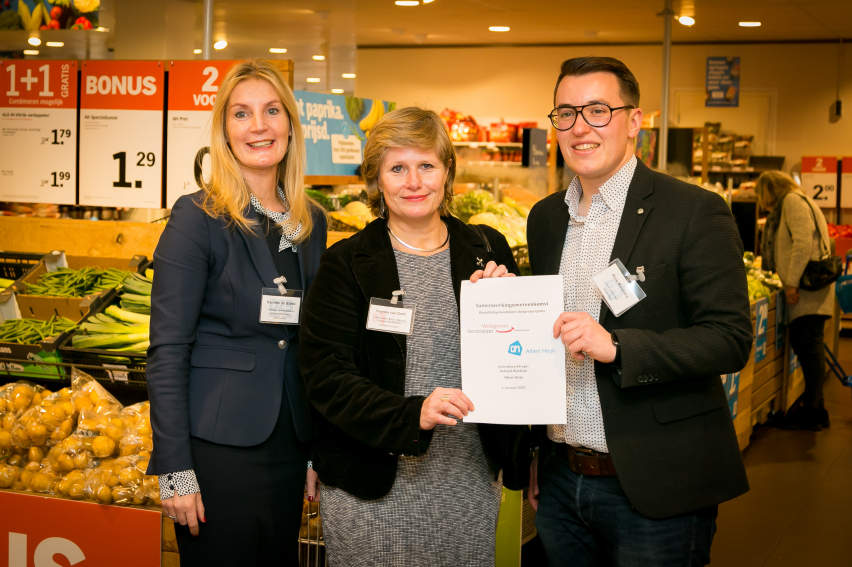 Meer kansen voor werkzoekenden door samenwerking Albert Heijn en Werkgeversservicepunt Holland Rijnland